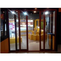 GA95 aluminium sliding thin profile glass door for sale