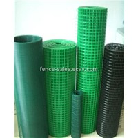 Green PVC coated welded wire mesh ISO9001 factory