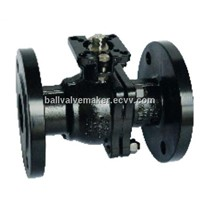 High platform carbon steel flanged ball valve