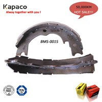 High quality Rear brake shoe set with Asbestos free brake lining BMS0015