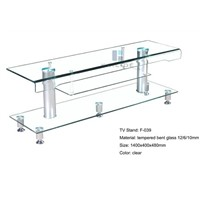 Hot Sale Clear  Glass TV Stand  furniture chinese supplier producer