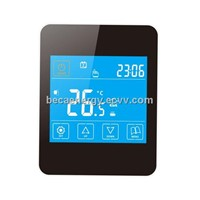 IPhone Style Touch Screen Fan Coil Cooling Room Thermostat BAC-ED928