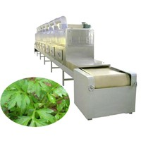 Microwave herb drying and sterilization machinery-Herb leaves dryr and sterilizer equipment