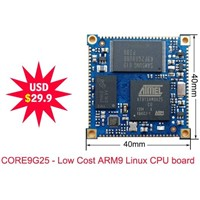 Only 29.9USD ! AT91SAM9G25 ARM9 board, 128MB DDR2 RAM, Linux system