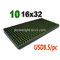 P10 LED Module Outdoor P10 Green LED Display Module 320mm * 160mm LED Advertising Signs