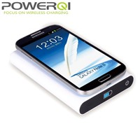 Qi wireless charer pad with 7200mAh power bank