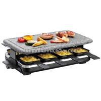 Raclette Grill with Granite Stone Grill Top