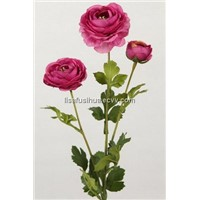 Red Artificial  Ranunculus Flower for wedding27617N