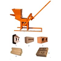 Small QMR2-40 manual clay brick block making machine made in china