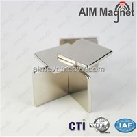 Strong Sintered NdFeB Block Magnet with Silver Nickel Coating