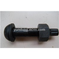 Supplying Bolts And Nuts Black 4.8 Grade/Round Head Bolts Supplier/Hex Bolts Specification