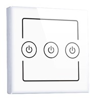Three gang wall switch of home automation system, support smart phone via WiFi/3G control