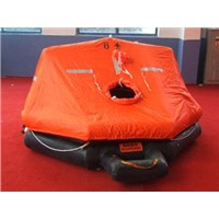 Throwing-overboard life raft