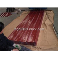 Trapezoidal galvanized prepainted steel sheet