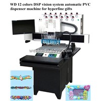 WD 12 colors automatic soft pvc dispenser machine for wristband