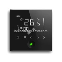 WIFI/INTERNET/WLAN/IPhone Infrared Touch Screen Fan Coil/Heating Room Thermostat BAC-002WF