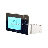 Wireless/Battery Wall Mounted Digital Gas Boiler Touch Screen Room Thermostat BHT-200RF