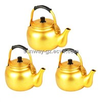 Yellow aluminum kettle