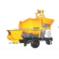 concrete mixer with pump