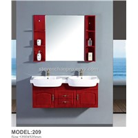double sinks bathroom furniture wall bathroom cabinets with ceramic basin and mirror cabinet 209