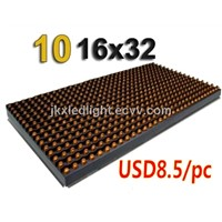 P10 Outdoor Yellow LED Module LED Display Module, LED Advertising Signs LED Panel