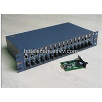 16 Slots Media Converter RACK for Converter Card