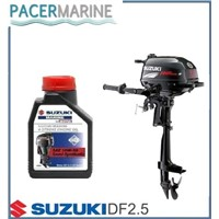 SUZUKI DF 2.5 HP FOUR STROKE OUTBOARD ENGINE AND 1L ENGINE OIL BOAT MOTOR