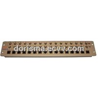 16E1 Coax to RJ45 Front Mount Impedance Matching Balun Panel