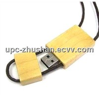 OEM High Quality Lanyard Wooden USB Flash Memory