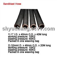 Sandblast hose,rubber hose,suction hose for sandblasting and grinding
