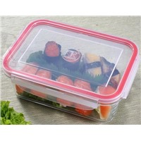 1650ML Rectangular glass food container with PP lid