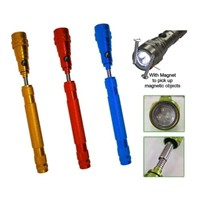 3LED telescopic flashlight with magnetic pick up tool