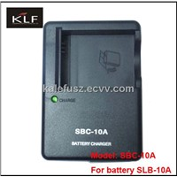 Camera Battery Charger SBC-10A for Samsung Battery SLB-10A