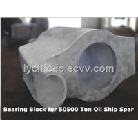 Casting Steel Bearing Block for 50500 Ton Oil Ship Spar