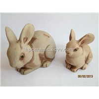 Ceramic Rabbit, Bunny, Animal Figurine