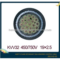 Flame-retardant PVC insulated SWA armored control cable