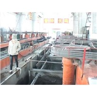 Flotation machine used in mineral production process line