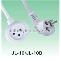Israel extension cords 3G1.5-2m with white color and multi socket JL-10/JL-10B