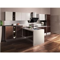 High gloss PVC Series | Kitchen Cabinet - OP12-X128