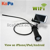 KoPa Wi-Fi endoscope with 720P display on iPhone/iPad/Android/PC
