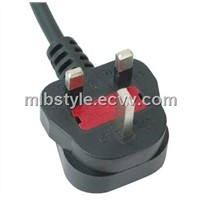 UK 3pin power cord with bs approved 13A three pin plug JL-49