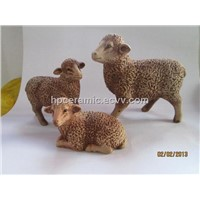Ceramic Sheep - Ceramic Animal Figurines