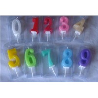 colorful number birthday candle