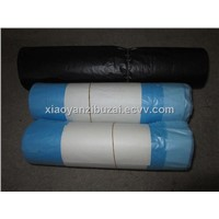 drawstring plastic garbage bag