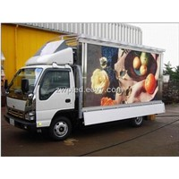 outdoor full color waterproof truck LED display screen