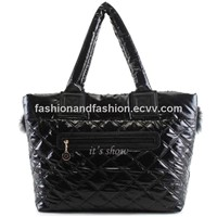 2013 FASION QUILTED LADY TOTE DESIGNER HANDBAG WITH RABBIT HAIR