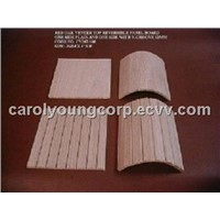 (Reversible) Flexible Wood Panel with V-Groove for Covering and Decoration