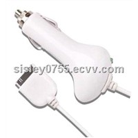 cheap&top quality 5V1A  white car charger for iphone ipod