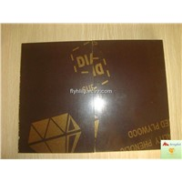 Brown film faced plywood with Diamond logo