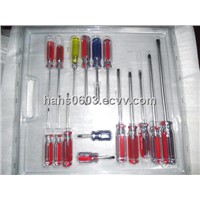 Cellulose acetate slotted/phillips screwdriver set